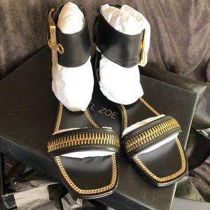 Rachel Zoe - Izzy Sandal, size 5, Black Leather